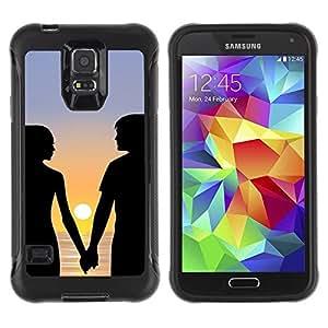 Suave TPU Caso Carcasa de Caucho Funda para Samsung Galaxy S5 SM-G900 / Romance Sunset / STRONG