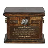 Dachshund, urn for Dog's Ashes with Relief and Sentence with Your Dog Name and Date
