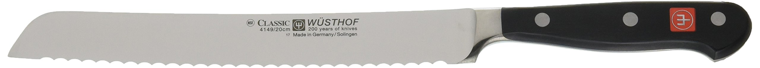 Wusthof Classic High Carbon Stainless Steel Bread Knife, 8 Inch