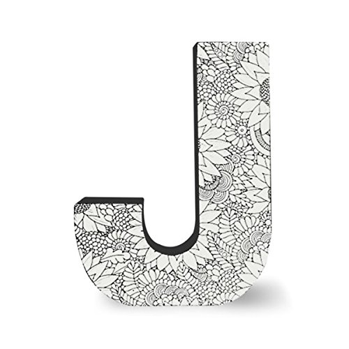 ColorJoy Coloring Products, Large Wall Hanging, Block Letter J