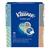 Kleenex Trusted Care Everyday Facial Tissues, Cube Box, 80 Tissues per Cube Box, 4 Packs