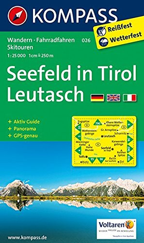 Seefeld in Tirol, Leutasch: Wandern / Rad / Langlauf. Mit Panorama. GPS-genau. 1:25.000 Landkarte – Folded Map, 24. Juni 2017 KOMPASS-Karten GmbH Innsbruck 3854910282 Europa