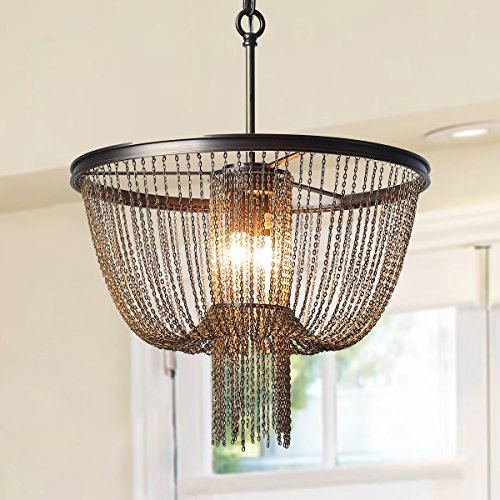Price comparison product image LOG BARN 2-Light Hall Draping Chains Chandeliers Pendant Lights E12