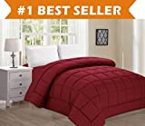Best Selling Luxury Comforter on Amazon! Elegant Comfort Ultra Plush Down Alternative Double-Filled Comforter %100 HypoAllergenic, King/Cal King , Burgundy