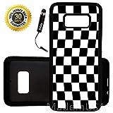 Custom Galaxy S8 Case (Checkered Flag Finish Line) Edge-to-Edge Rubber Black Cover Ultra Slim   Lightweight   by Innosub