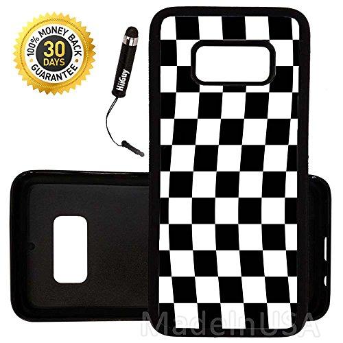 Custom Galaxy S8 Case (Checkered Flag Finish Line) Edge-to-Edge Rubber Black Cover Ultra Slim | Lightweight | by Innosub