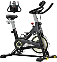 Exercise Bike, SOVNIA Stationary Bikes, Fitness Bike with iPad Holder, Indoor Cycling Bikes with LCD Monitor a