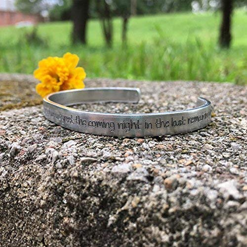 stand alone and greet the night in the last remaining light Audioslave lyrics A And if you dont believe the sun will rise Chris Cornell inspired bracelet
