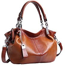 Heshe Women's Leather Shoulder Handbags Hobo Handbag Top Handle Tote Bags Cross Body Purse Satchel