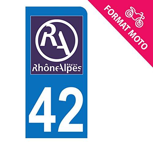 Nouveau logo Rh/ône Alpes Autocollant Moto immatriculation Loire