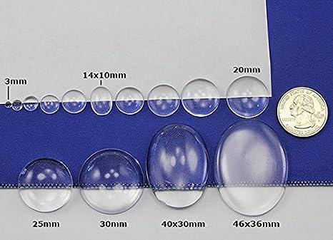 10 St acrylic Cabochon 17 x 20 mm