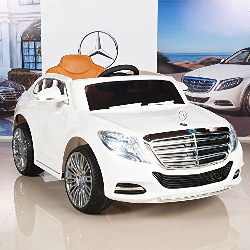 Mercedes Rc Car (Mercedes-Benz S600 12V Kids Ride On Battery Powered Wheels Car RC Remote White)