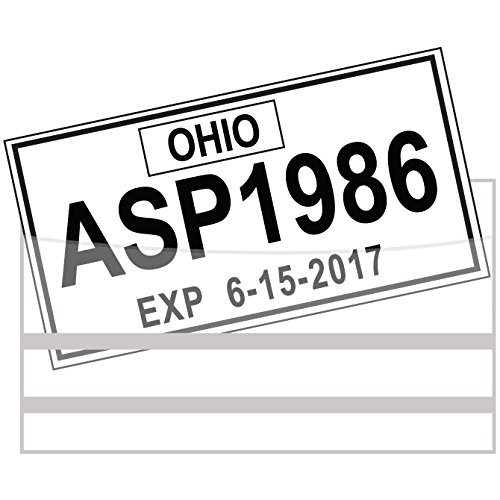 License Plate Tag Bags with ()