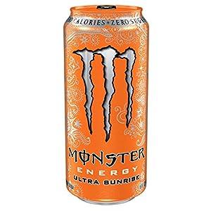 Monster Energy, Ultra Sunrise, 16 Ounce (Pack of 24)