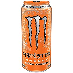 Monster Energy, Ultra Sunrise, 16 Ounce (Pack of 24)