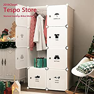 Amazon Com Tespo Portable Closet Clothes Wardrobe