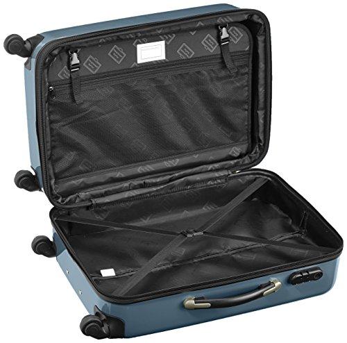 HAUPTSTADTKOFFER - Alex - 2er Koffer-Set Hartschale glänzend, 65 cm, 74 Liter, Graphit-Gelb Waldgrün-silber
