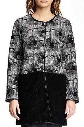 Custo Barcelona Mujer Abrigo Corto coaty gacunda gris-negro 44 : Amazon.es: Ropa y accesorios