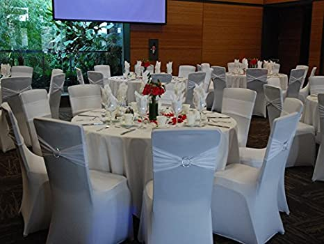 Amazon.com: SPRINGROSE 50 Fundas de sillón de boda de ...