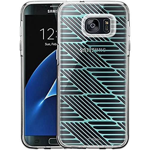 Samsung Galaxy S7 Edge Case, Slim Fit Snap On Cover by Trek Turquoise Steps Clear Case Sales