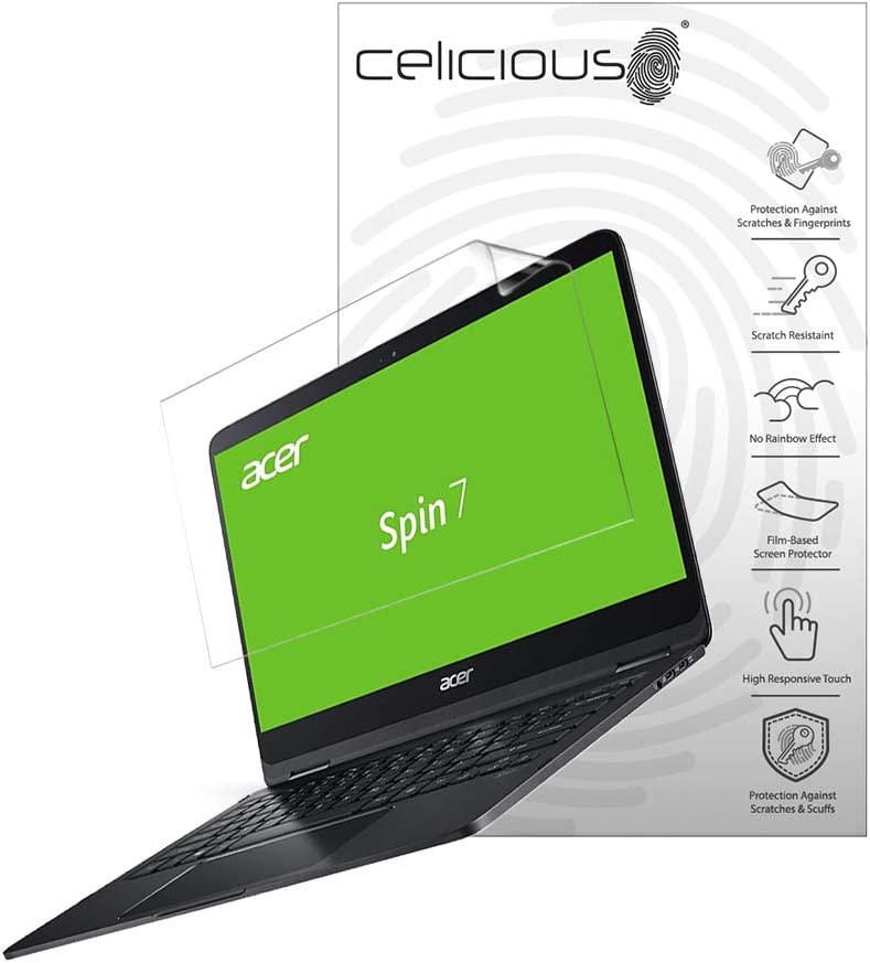 Celicious Vivid Plus Mild Anti-Glare Screen Protector Film Compatible with Acer Spin 7 SP714-51 [Pack of 2]