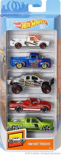 Hot Wheels 2018 50th Anniversary HW Hot Trucks 5-Pack ()