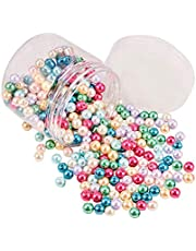 PandaHall Elite 400 stuks 6 mm ca .Klein satijn stralend glas ronde parel sieraden DIY rond