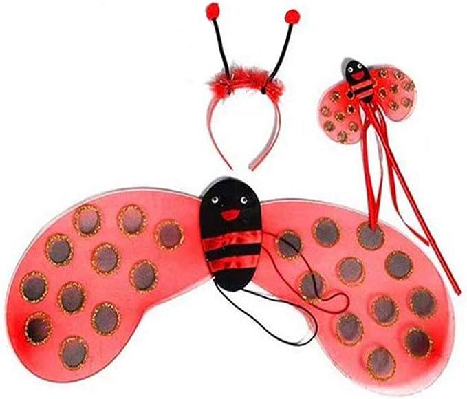 NUOBESTY Mariquita abeja varita alas antena diadema ...