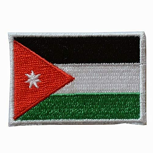 Spk Art Jordan Flag Embroidery Iron On Patch Small 1 7/8