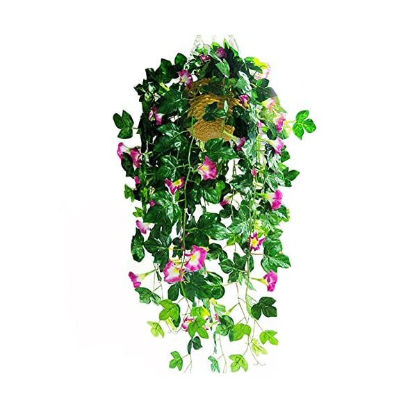 XHSP-2-Bunches-Artificial-Vines-354-Morning-Glory-Hanging-Plants-Silk-Garland-Fake-Green-Plant-Home-Garden-Wall-Fence-Stairway-Outdoor-Wedding-Hanging-Baskets-Decor