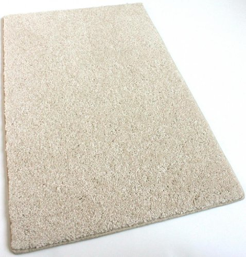2'x3' Cream Area Rug Carpet. Multiple Sizes, Shapes and Rich Cream Tone. Soft and Plush 25 oz. StainMaster. Long wear Soft Nylon Fiber. Medium Density. Thickness: 1/2