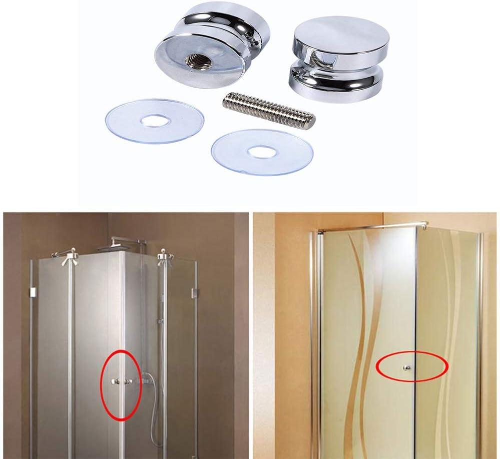 einzigen glast/ürknauf Glast/ürgriff f/ür Badezimmer Duschkabine duschwand runde t/ürgriff edelstahl t/ürgriff