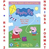 Peppa Pig - Triple Pack Collection [NON-U.S.A. FORMAT: PAL + Region 2 + U.K. Import] (Includes: Muddly Puddles / Flying a Kite / New Shoes)