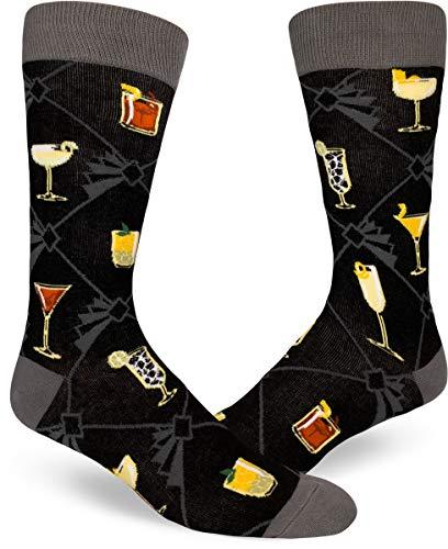 ModSocks Men's Speakeasy Cocktails Crew Socks (Fits Most Men Shoe Size 8-13) ()