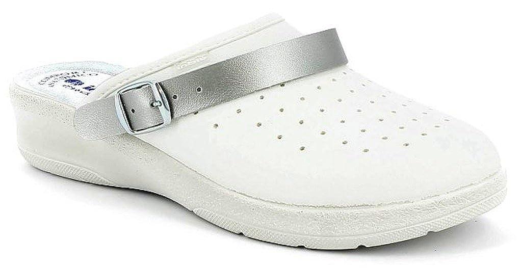 INBLU Pantofole Ciabatte SANITARIE da Donna MOD. 50-35 Bianco