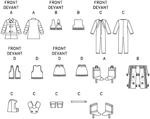 Butterick B3244 Astronaut Sizes 2-5 and Cowgirl Childrens Halloween Costume Sewing Pattern Cowboy Firefighter