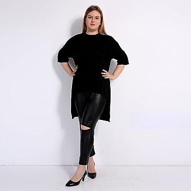 cc2dca395 2017 Summer Plus Size Women Clothing Long Asymmetrical Half sleeveT-Shirt  Large Size (5XL