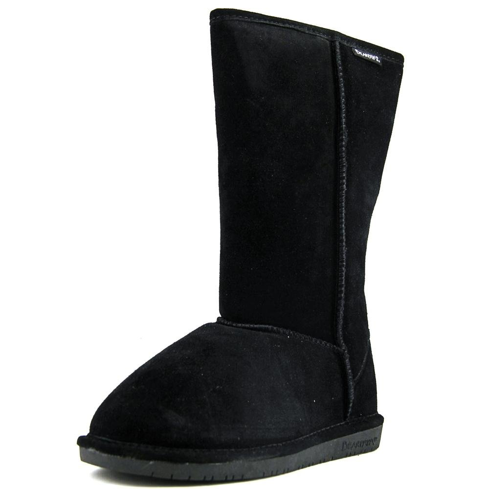 BEARPAW Womens Emma Tall Closed Toe Mid-Calf Fashion Boots, Black, Size 8