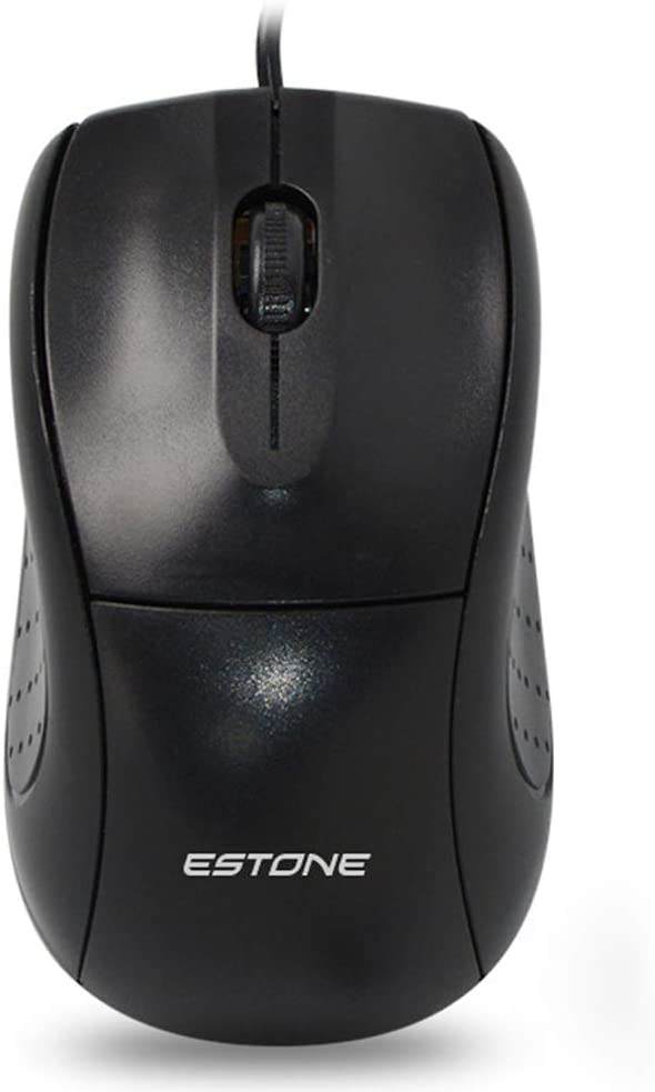 Rubber Side Grips M1 Elite Gaming Mouse: 1000 DPI Optical Sensor USB Gaming Mouse- Chroma RGB Lighting 3 Programmable Buttons Mechanical Switches Black