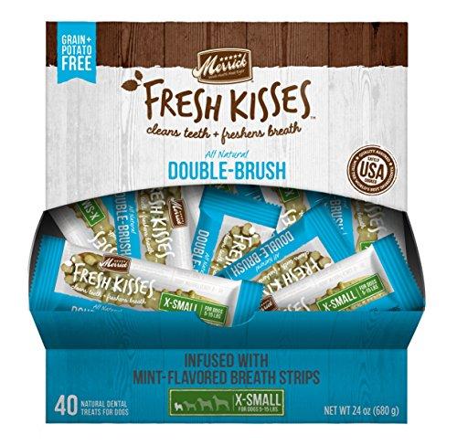 Fresh Kisses Mint Breath Strips Extra Small Brush - Single Serve Box (40 Ct) ()