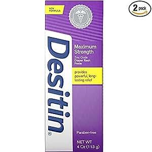 DESITIN Maximum Strength Diaper Rash Paste 4 oz ( Pack of 2)