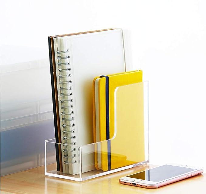 Acryl Zeitschriften aufbewahrung Office Datei-aufbewahrungsbox Tragbar Datei Ordner-Halter Notebook lagerregal Transparent-A
