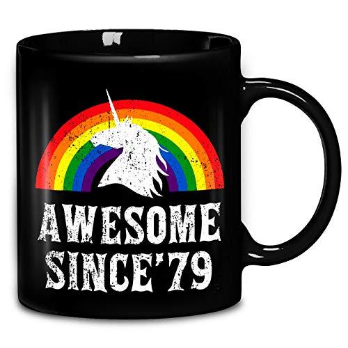 Vintage 1979, Awesome Unicorn Mug, Unicorn 40th Birthday Rainbow 1979 40th Birthday Mug, Awesome Since 79 Mug Coffee Mug 11oz & 15oz Gift Tea Cups