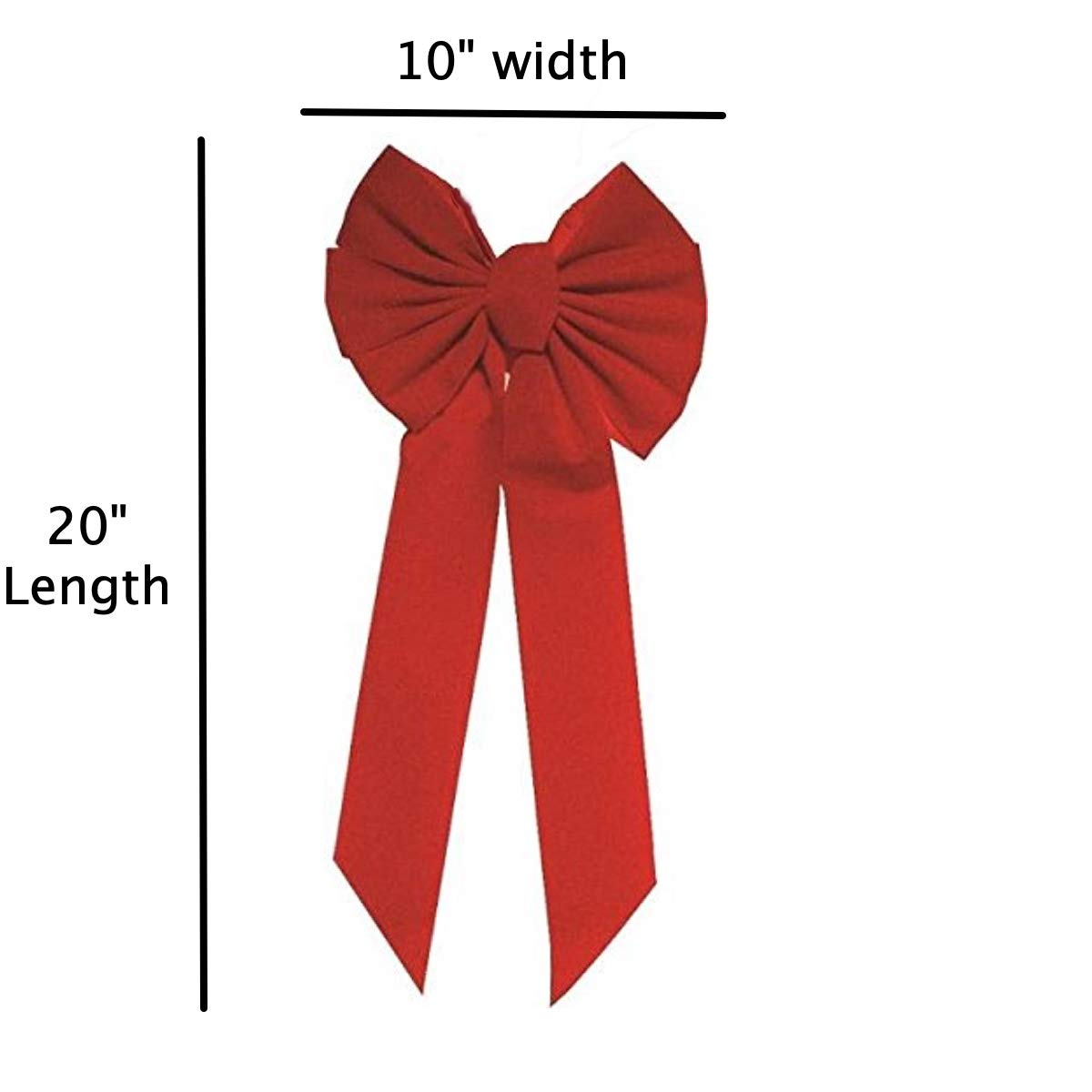 12-Inch 3 Pack Waterproof Velvet Attachment tie Included for Easy Hanging Indoor//Outdoor use Great for Large Gifts Christmas Wreath Bow Rocky Mountain Goods Red Bow Hand Tied in USA