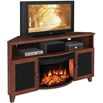 Amazon Com Shaker Style Corner 61 Quot Tv Stand With Curved