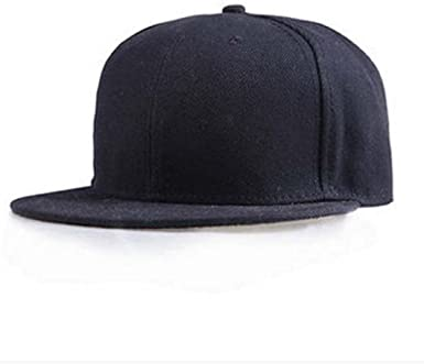Men Women Plain Baseball Cap Adjustable Snapback Hip-Hop Bboy Blank Hat-WI