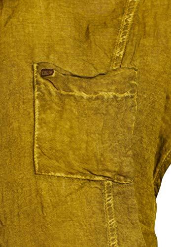 Khujo Verde Camicia Corta Unita Manica Tinta Donna HwH1qOrxn