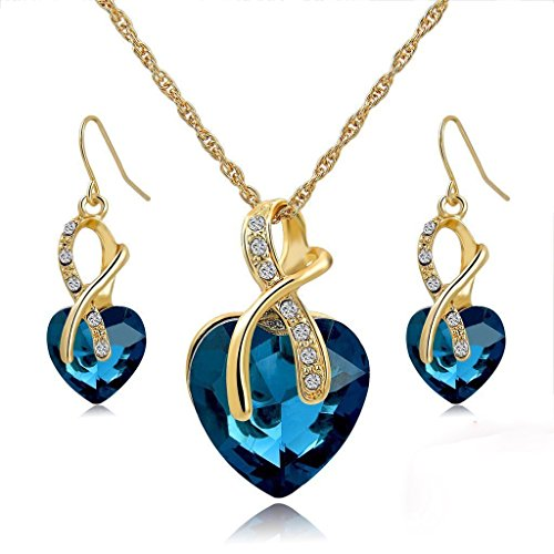 Morenitor Necklace Earrings Austrian Crystal