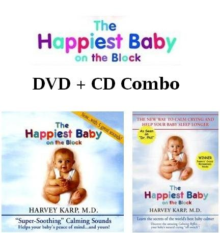 The Happiest Baby on the Block DVD + CD COMBO By Dr. Harvey Karp The New Way to Calm Crying, and Help Your Baby Sleep Longer +