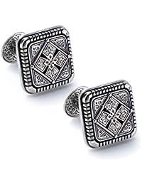 925 Sterling Silver Square Designer Cufflinks